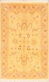 All-Over Floral Gold Color 3x5 Oushak Pakistan Oriental Area Rug