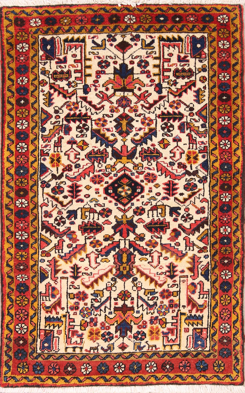 Geometric Tribal 3x5 Heriz Persian Area Rug