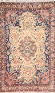 Floral Ivory 3x5 Hamedan Persian Area Rug