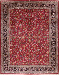 Floral 10x13  Kashan Persian Area Rug
