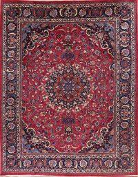 Floral Medallion 9x12 Mashad Persian Area Rug