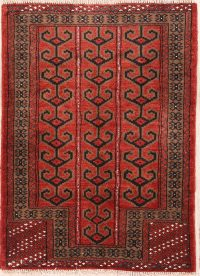 Geometric Tribal 3x4 Balouch Turkoman Persian Area Rug