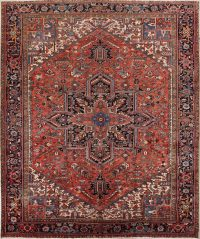 Vegetable Dye Geometric 10x12 Heriz Persian Area Rug