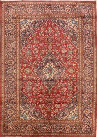Traditional Floral 8x11 Kashan Persian Area Rug