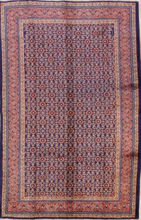 All-Over 7x11 Mahal Sarouk Persian Area Rug