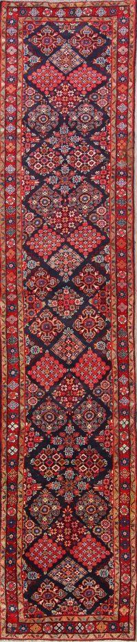 Floral 3x14 Hamedan Persian Rug Runner