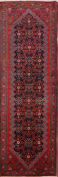 Geometric 4x11 Sarouk Persian Rug Runner