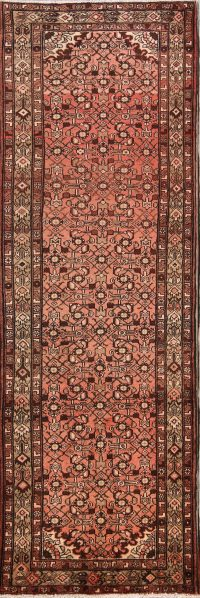 All-Over Floral 4x11 Hamedan Persian Rug Runner