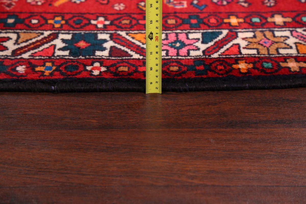 Geometric Tribal 4x10 Hamedan Persian Rug Runner