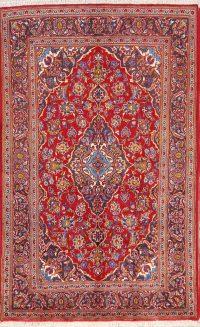 Floral 5x7 Kashan Persian Area Rug