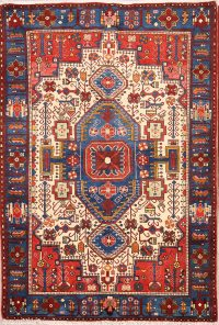 Geometric Tribal  5x7 Nahavand Hamedan Persian Area Rug