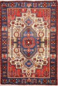 Geometric Tribal  5x7 Nahavand Hamedan Persian Area Rug