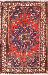 Geometric 4x6 Malayer Hamedan Persian Area Rug