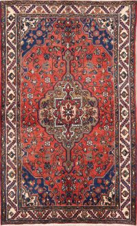 Geometric 4x7 Hamedan Malayer Persian Area Rug