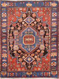 Geometric 5x6 Nahavand Hamedan Persian Area Rug