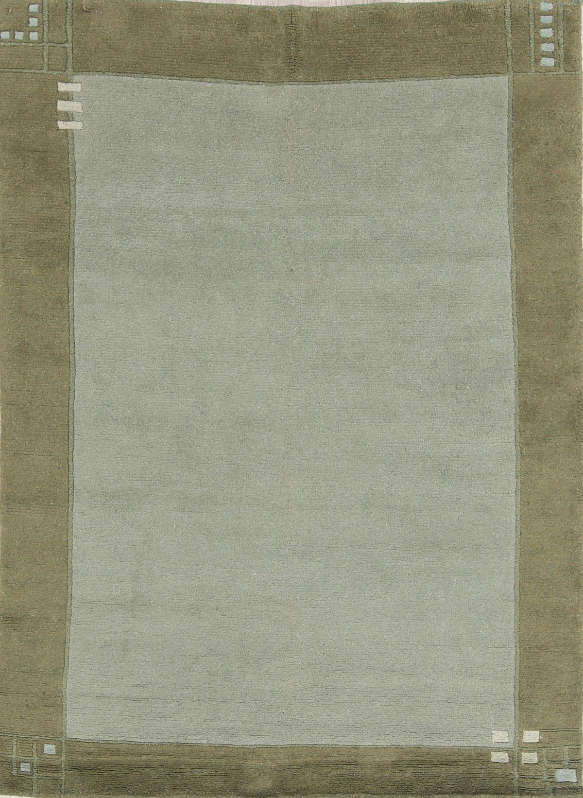6x8 Green Tibetan Nepal Indian Oriental Area Rug
