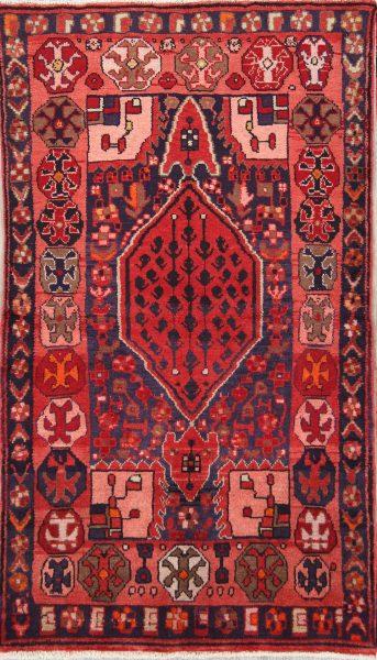 Geometric 4x6 Hamedan Persian Area Rug
