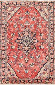 Floral 4x7 Mahal Persian Area Rug