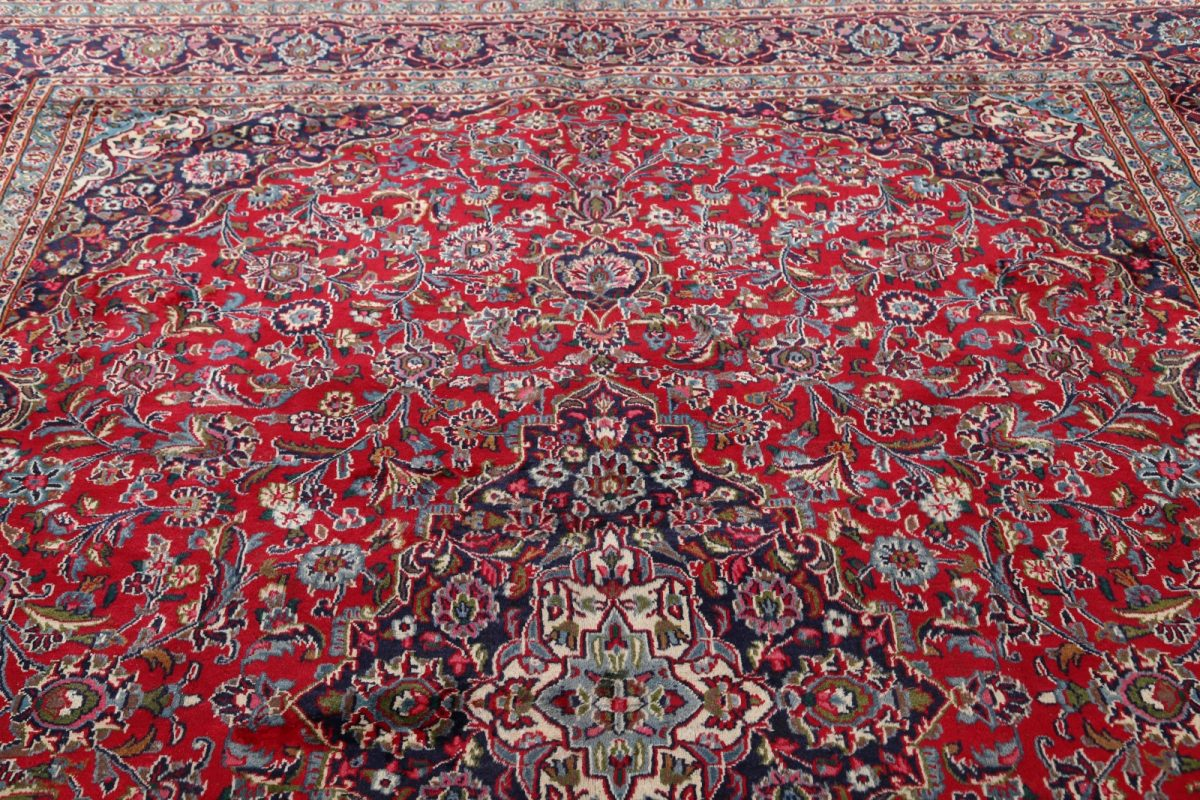 Floral 10x13 Mashad Persian Area Rug