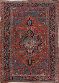 Geometric 7x10 Heriz Persian Area Rug