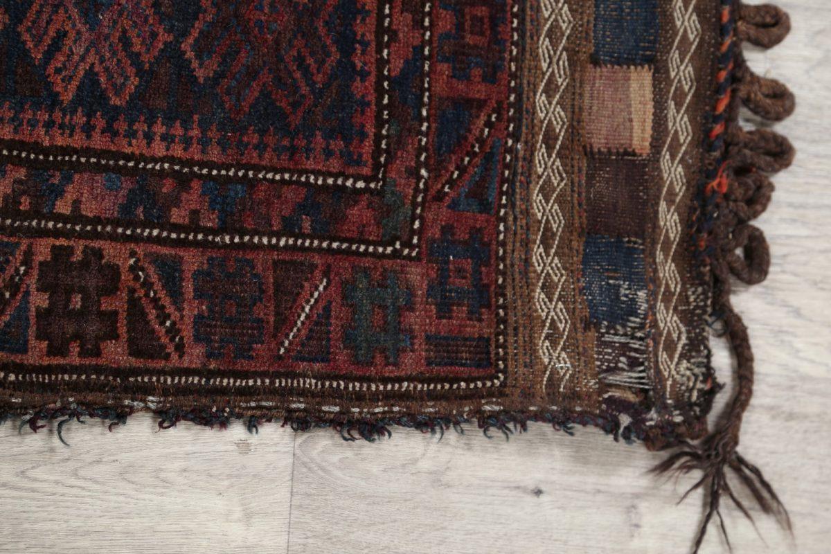 Geometric Tribal 2x4 Saddle Bag Balouch Afghan Oriental Rug