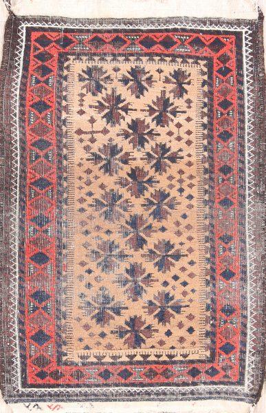 Geometric 2x3 Balouch Afghan Oriental Area Rug