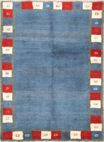 Solid 4x6 Gabbeh Shiraz Persian Area Rug