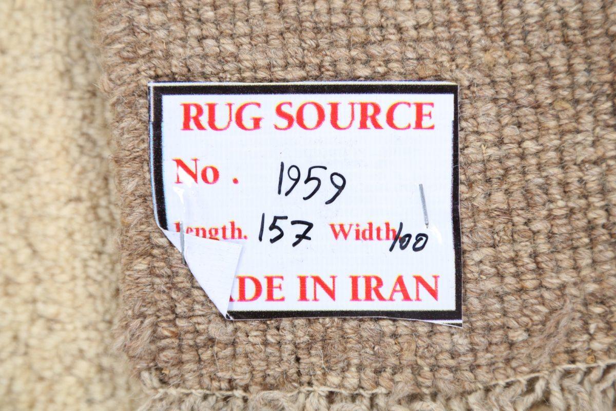 Bordered Solid 3x5 Gabbeh Shiraz Persian Area Rug