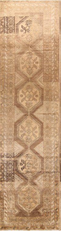 Geometric 4x14 Hamedan Persian Rug Runner