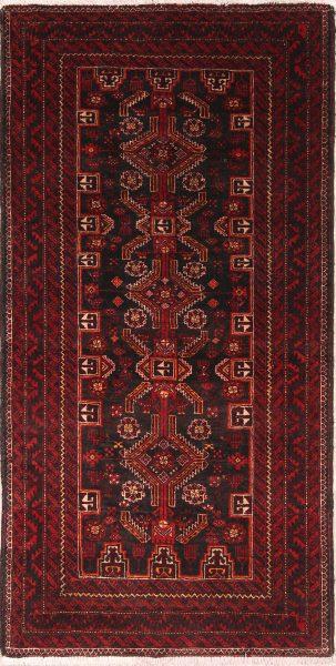 Geometric 3x7 Balouch Persian Rug Runner