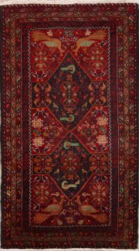 Pictorial 3x6 Balouch Persian Rug Runner