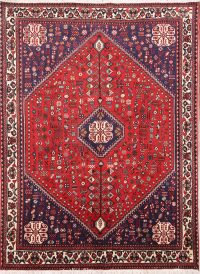 Tribal Geometric 5x6 Abadeh Shiraz Persian Area Rug