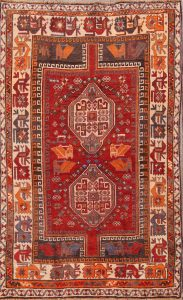 Geometric Tribal 5x7 Shiraz Persian Area Rug