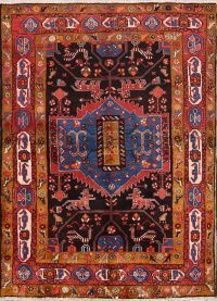 Animal Pictorial 5x6 Nahavand Hamadan Persian Rug Runner