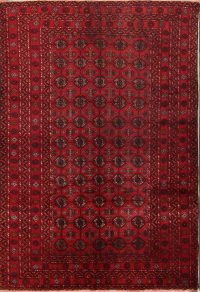 All Over Geometric 7x10 Balouch Persian Area Rug