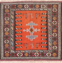 Geometric Tribal Square 3x3 Kilim Shiraz Persian Area Rug
