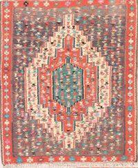 Tribal 4x5 Senneh Kilim Bidjar Persian Area Rug