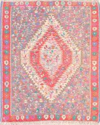 Geometric 4x5  Senneh Kilim Bidjar Persian Area Rug