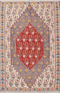 Geometric 4x6 Senneh Bidjar Kilim Persian Area Rug