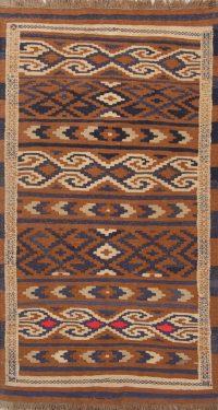 Geometric 3x6 Navajo Kilim Balouch Persian Rug Runner