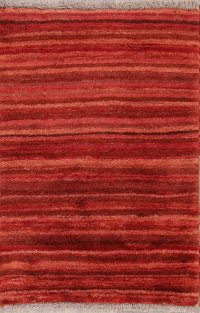 Striped Modern 3x4 Gabbeh Zolanvari Shiraz Persian Area Rug