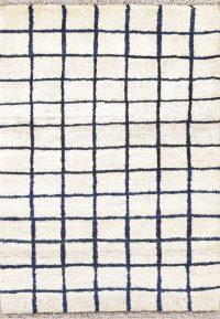 Checked Design Thick Pile Modern 3x4 Gabbeh Shiraz Persian Area Rug