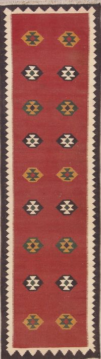 3x9 Kilim Shiraz Persian Runner Rug
