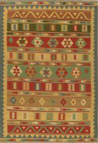 Geometric Tribal 7x10 Kilim Shiraz Persian Area Rug