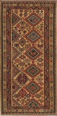 Geometric Tribal 5x10 Kilim Shiraz Qashqai Persian Rug Runner