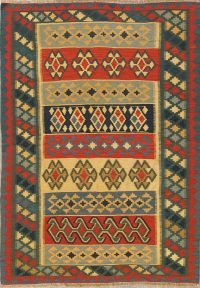 Geometric Tribal 5x7 Kilim Shiraz Persian Area Rug