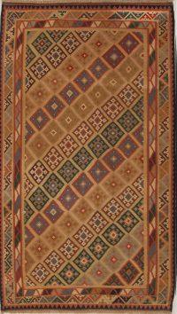 Geometric Flat-Woven 6x10 Kilim Shiraz Qashqai Persian Area Rug