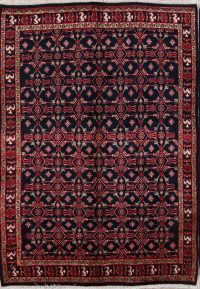 All-Over Geometric 6x9 Mashad Persian Area Rug