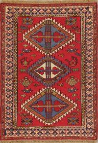 Geometric Tribal 3x5 Kilim Shiraz Persian Area Rug