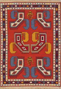 Geometric Tribal Navajo 4x5 Kilim Qashqai Persian Area Rug